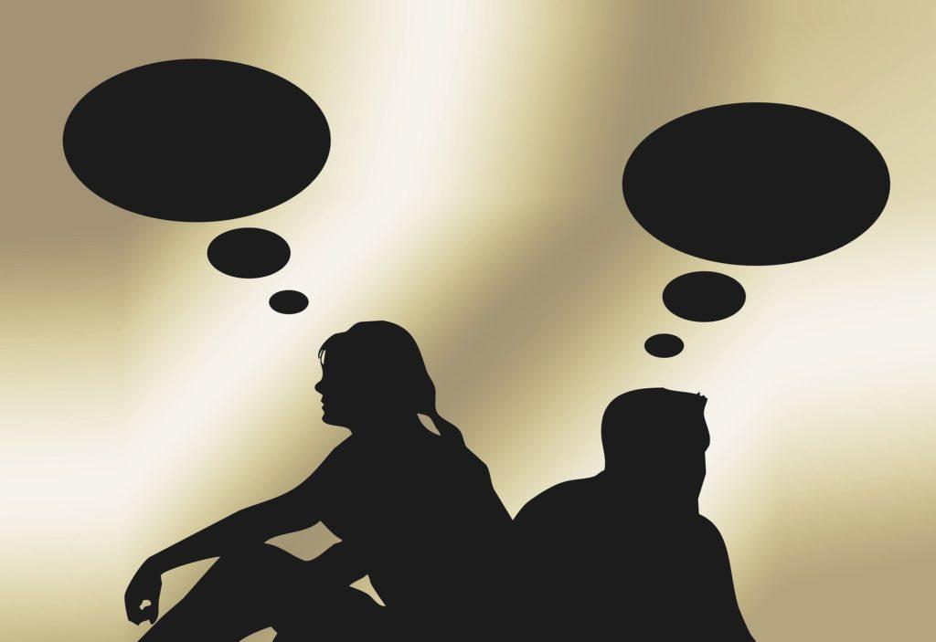 Konflikte lösen zwischen zwei Personen in Partnerschaft